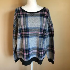 AEO | Fleece Plaid Pullover Shirt  XL